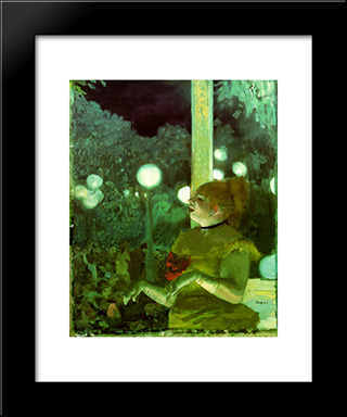 Song Of The Dog: Modern Custom Black Framed Art Print by Edgar Degas