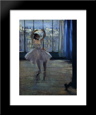 Dancer At The Photographer'S Studio: Modern Custom Black Framed Art Print by Edgar Degas
