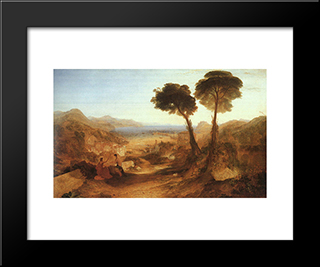 The Bay Of Baiae With Apollo And The Sibyl: Modern Custom Black Framed Art Print by Joseph Mallord William Turner