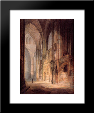 St. Erasmus In Bishop Islips Chapel, Westminster Abbey: Modern Custom Black Framed Art Print by Joseph Mallord William Turner