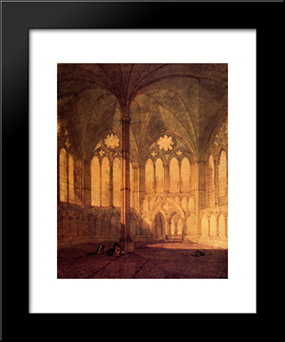 The Chapter House, Salisbury Chathedral: Modern Custom Black Framed Art Print by Joseph Mallord William Turner