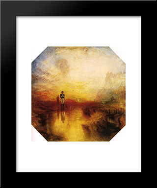 The Exile And The Snail: Modern Custom Black Framed Art Print by Joseph Mallord William Turner