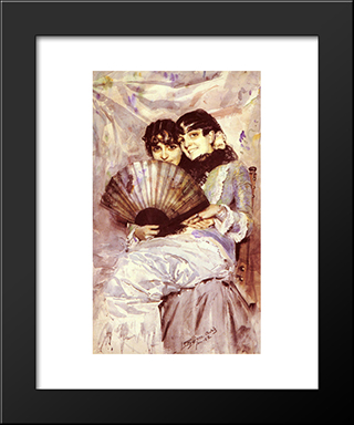 Kusineria: Modern Custom Black Framed Art Print by Anders Zorn