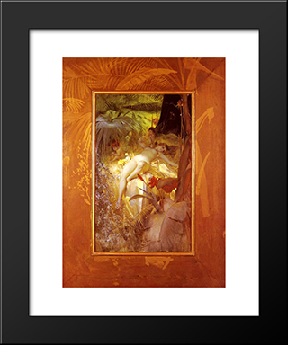 Karleksnymf: Modern Custom Black Framed Art Print by Anders Zorn
