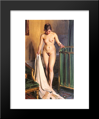 I Sangkammaren: Modern Custom Black Framed Art Print by Anders Zorn