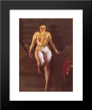 Loftsangen: Modern Custom Black Framed Art Print by Anders Zorn