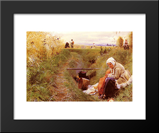 Our Daily Bread: Modern Custom Black Framed Art Print by Anders Zorn