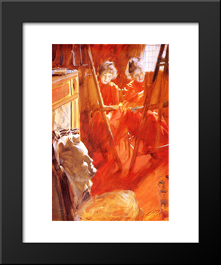 Les Demoiselles Schwartz: Modern Custom Black Framed Art Print by Anders Zorn