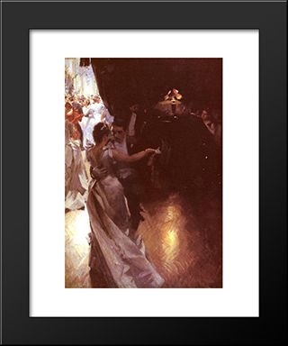 Valsen: Modern Custom Black Framed Art Print by Anders Zorn