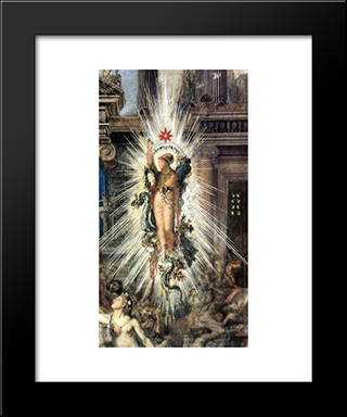 The Suitors ' Detail: Modern Custom Black Framed Art Print by Gustave Moreau