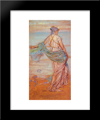 Annabel Lee: Modern Custom Black Framed Art Print by James McNeill Whistler