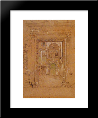 Ste Giovanni Apostolo Et Evangelistae: Modern Custom Black Framed Art Print by James McNeill Whistler