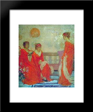 Red And Black: Modern Custom Black Framed Art Print by James McNeill Whistler