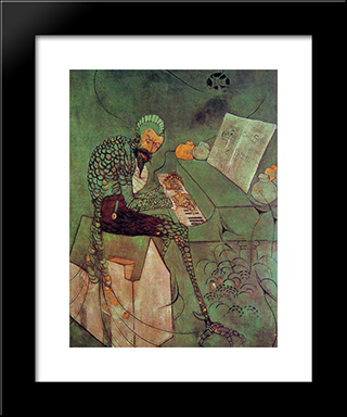 The Gold Scab: Modern Custom Black Framed Art Print by James McNeill Whistler