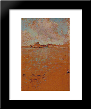Venetian Scene: Modern Custom Black Framed Art Print by James McNeill Whistler