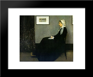 Arrangement In Grey And Black: Portrait Of The Painter'S Mother: Modern Custom Black Framed Art Print by James McNeill Whistler