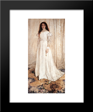 Symphony In White No. 1: The White Girl: Modern Custom Black Framed Art Print by James McNeill Whistler