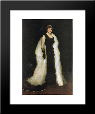Arrangement In Black, No.5: Lady Meux: Modern Custom Black Framed Art Print by James McNeill Whistler
