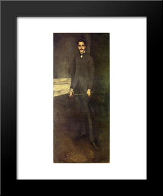 Portrait Of George W. Vanderbilt: Modern Custom Black Framed Art Print by James McNeill Whistler