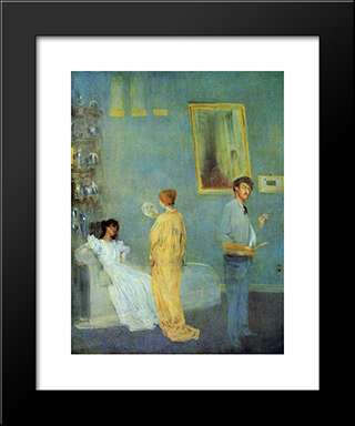 The Artist'S Studio: Modern Custom Black Framed Art Print by James McNeill Whistler