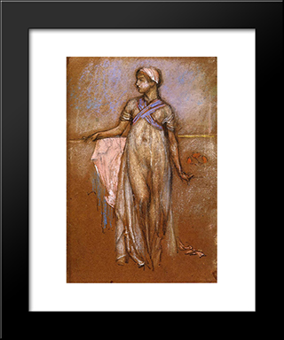 The Greek Slave Girl: Modern Custom Black Framed Art Print by James McNeill Whistler