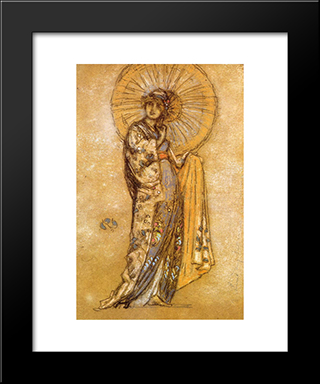 The Japanese Dress: Modern Custom Black Framed Art Print by James McNeill Whistler