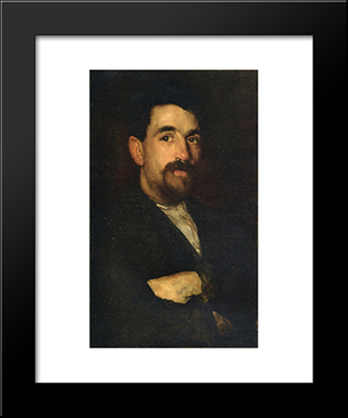 The Master Smith Of Lyme Regis: Modern Custom Black Framed Art Print by James McNeill Whistler