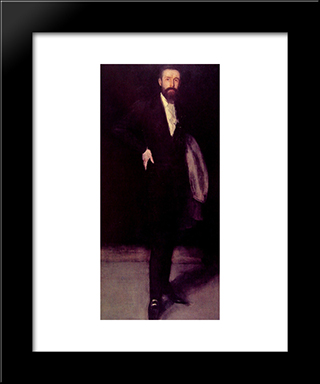 Arrangement In Black: Portrait Of F.R. Leyland: Modern Custom Black Framed Art Print by James McNeill Whistler