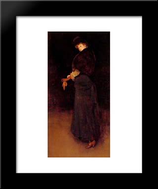 Arrangement In Black: The Lady In The Yellow Buskin ' Portrait Of Lady Archibald Campbell: Modern Custom Black Framed Art Print by James McNeill Whistler