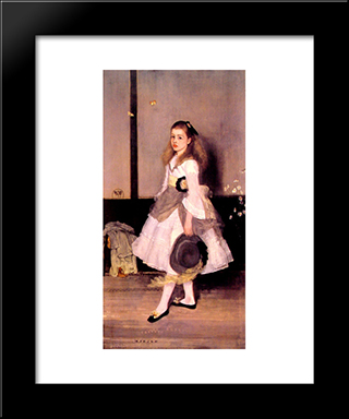 Harmony In Grey And Green: Miss Cicely Alexander: Modern Custom Black Framed Art Print by James McNeill Whistler