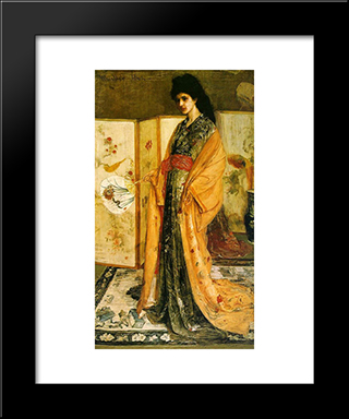 La Princesse Dupays De La Porcelaine: Modern Custom Black Framed Art Print by James McNeill Whistler