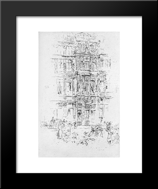 Palaces, Brussels: Modern Custom Black Framed Art Print by James McNeill Whistler