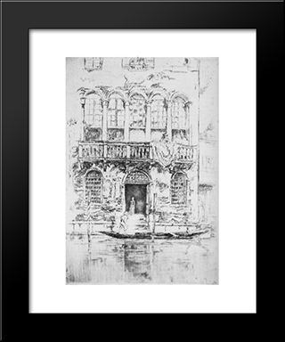 The Balcony: Modern Custom Black Framed Art Print by James McNeill Whistler