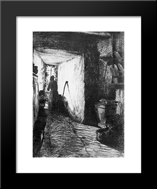 The Kitchen: Modern Custom Black Framed Art Print by James McNeill Whistler