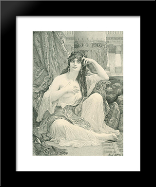 Engaving After Cabanel'S 'The Sulamite': Modern Custom Black Framed Art Print by Alexandre Cabanel