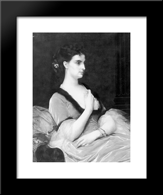 Portrait Of A Lady: Modern Custom Black Framed Art Print by Alexandre Cabanel