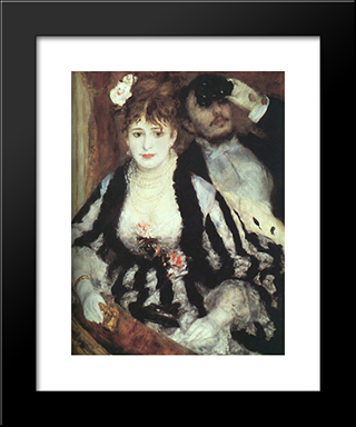 La Loge: Modern Custom Black Framed Art Print by Pierre Auguste Renoir