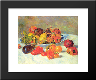 Fruits From The Midi: Modern Custom Black Framed Art Print by Pierre Auguste Renoir