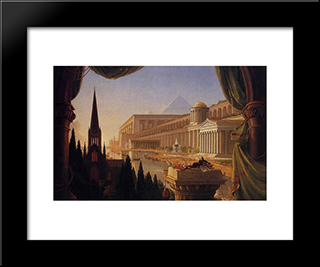 The Architect'S Dream: Modern Custom Black Framed Art Print by Thomas Cole