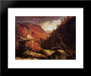 The Clove, Catskills: Modern Custom Black Framed Art Print by Thomas Cole