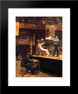 In The Mid'Time: Modern Custom Black Framed Art Print by Thomas Eakins