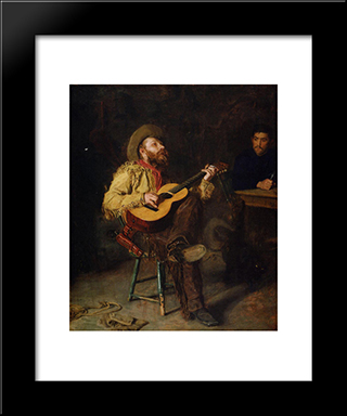 Home Ranch: Modern Custom Black Framed Art Print by Thomas Eakins