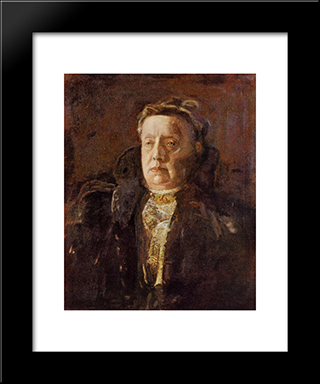 Mrs. Gilbert Perker: Modern Custom Black Framed Art Print by Thomas Eakins