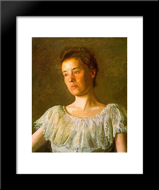 Portrait Of Alice Kurtz: Modern Custom Black Framed Art Print by Thomas Eakins