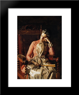 Portrait Of Amelia C. Van Buren: Modern Custom Black Framed Art Print by Thomas Eakins