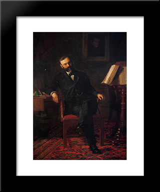 Portrait Of Dr. John H. Brinton: Modern Custom Black Framed Art Print by Thomas Eakins
