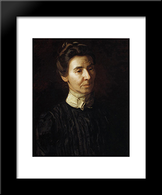 Portrait Of Mary Adeline Williams: Modern Custom Black Framed Art Print by Thomas Eakins