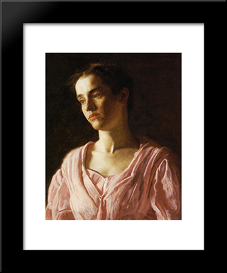 Portrait Of Maud Cook: Modern Custom Black Framed Art Print by Thomas Eakins