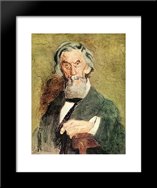 Portrait Of William H. Macdowell (Unfinished): Modern Custom Black Framed Art Print by Thomas Eakins
