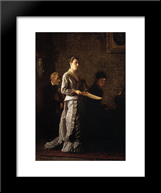 Singing A Pathetic Song: Modern Custom Black Framed Art Print by Thomas Eakins